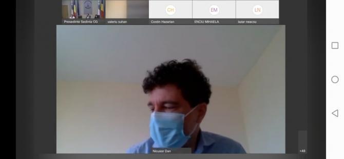 Nicușor Dan, intervenție video în ședința CGMB din 2 august