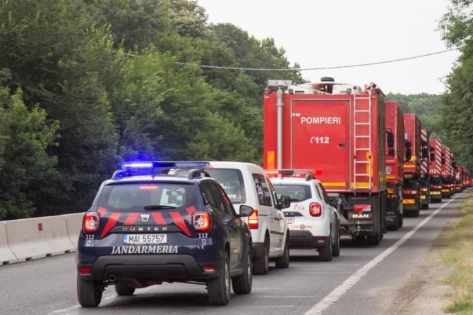Pompierii români au plecat spre Grecia / Foto: DSU