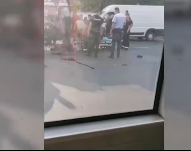 Un motociclist a omorât un bărbat care circula pe trotinetă, după o șicanare în traficul din București / Foto: Captură video Realitatea Plus