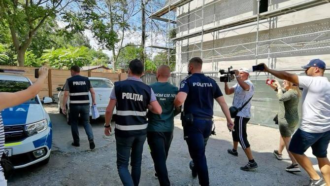 Scandalagiul din Mamaia a fost reținut. Este luptător MMA / Foto: Facebook Poliția Română