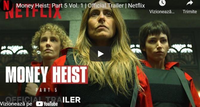Trailerul noului sezon al serialului 'La Casa de Papel', lansat pe Netflix / VIDEO