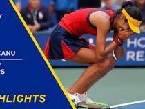 Emma Răducanu, noua senzație a tenisului feminin. S-a calificat în sferturile de finală de la US Open 2021 / Captură Video US Open Tennis Championships YouTube