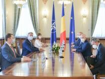 Delegația Enel Group, condusă de Francesco Starace, CEO Enel Group, primită la Palatul Cotroceni de președintele Klaus Iohannis  Foto: Administrația Prezidențială