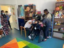 Ionel Arsene, președintele PSD al CJ Namț, la  Centrul de Recuperare pentru Copilul cu Dizabilități