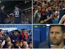 Messi, criză de nervi în PSG - Lyon, după ce Pochettino l-a scos de pe teren. Gest reprobabil / Captură VIDEO PSGalu Twitter