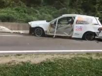 Accident grav la raliul din Câmpulung Muscel / Foto: Captură video Facebook George GB