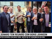 Pentru că este nevaccinat, preşedintele brazilian Bolsonaro, este nevoit să mănânce pe stradă la New York / Captură video  Jovem Pan News YouTube