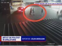 """Tânăr, bătut de un POLIȚIST într-o spălătorie auto. """"Motivul principal este invidia"""" / Foto: Captură video PRO TV"""