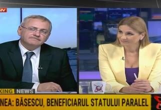 Liviu Dragnea și Anca Alexandrescu / Captură Realitatea PLUS