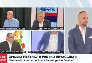 Ion M. Ioniță a plecat din platoul B1 TV: Sunteți un pericol! Stați fără mască! Mai sunteți și nevaccinat!
