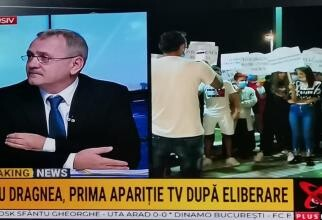 foto Liviu Dragnea Realitatea PLUS. Susținători în fața televiziunii (dreapta)