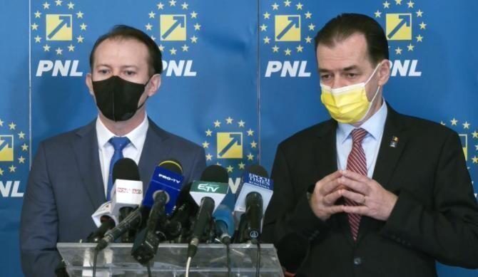 Cîțu și Orban / FOTO: Partidul Național Liberal, arhivă