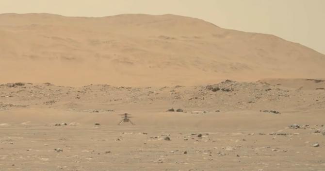 Misiunea lui Ingenuity pe Marte a fost extinsă pe o perioadă nedefinită. Elicopterul a depășit așteptările NASA  /  Sursă foto: Captură YouTube