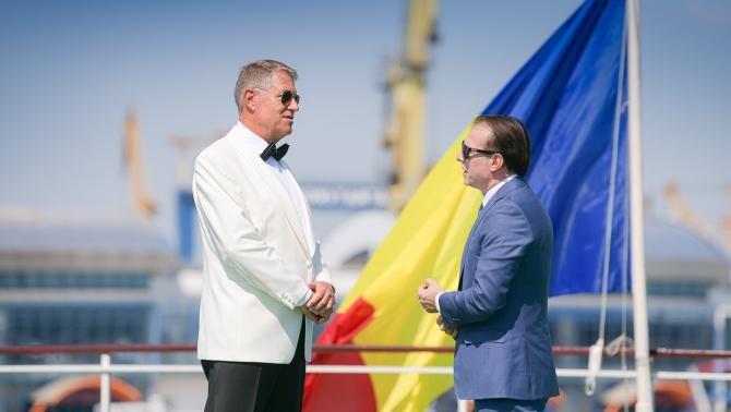 Klaus Iohannis și Florin Câțu, la Constanța / Foto: Administrația Prezidențială