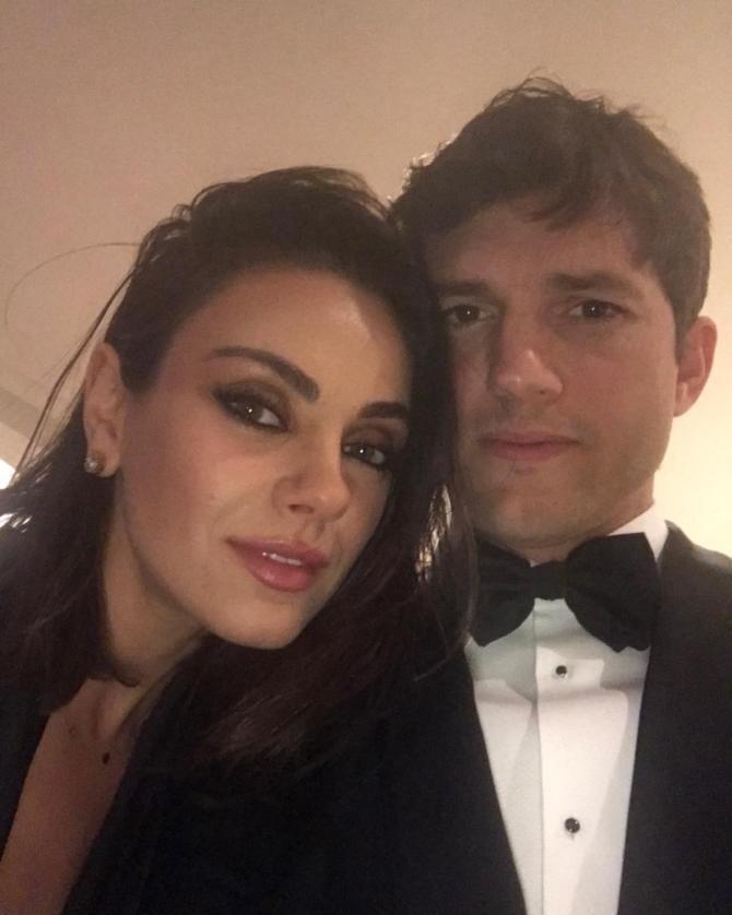 Mila Kunis și Ashton Kutcher / Foto: Instagram @aplusk