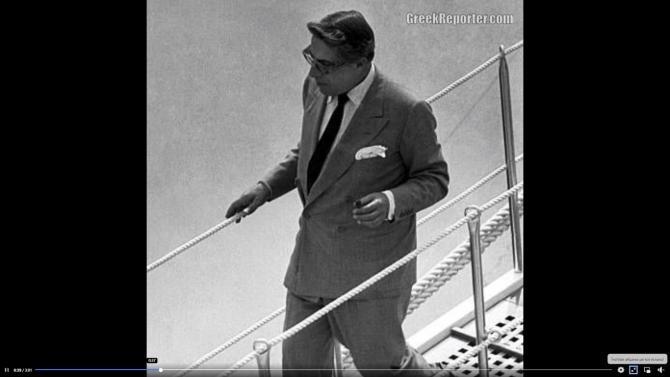 Aristotel Onassis - Sursa: Captură VIDEO Greek Reporter