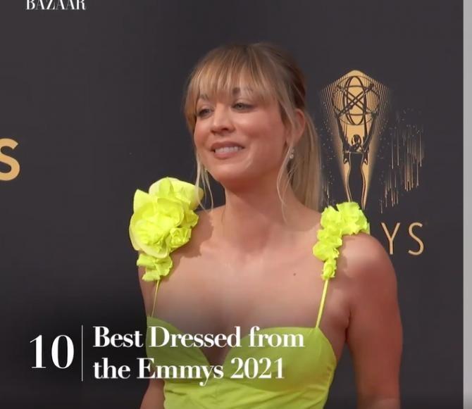 Primetime Emmy 2021. Top 10 vestimentaţii ale starurilor pe covorul roşu / Captură Harper's Bazaar UK