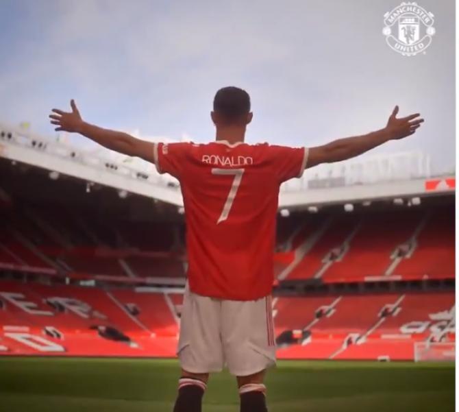 Ronaldo, imagini virale 'acasă' pe 'Teatrul Viselor': Este fantastic! / Captură Video Manchester United Twitter