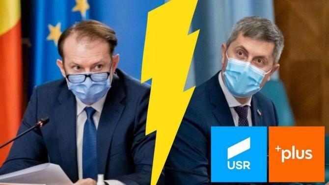 Scandalul din coaliție răsună până în Parlamentul European. Marius Tudor: Unii zâmbesc / Foto: Facebook Florin Cîțu, Dan Barna
