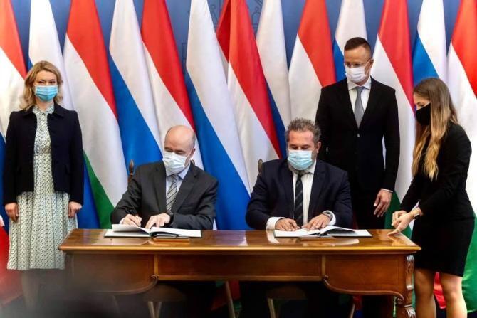 Scandal diplomatic între Ungaria și Ucraina, după semnarea acordului cu Gazprom  /  Sursă foto: Facebook Peter Szijjarto