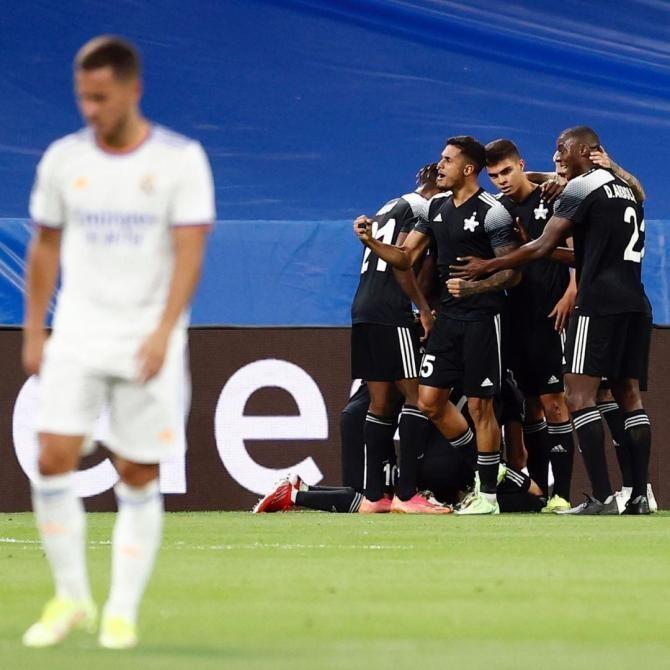 Sheriff Tiraspol scrie istorie în Champions League! Moldovenii, victorie fantastică pe terenul lui Real Madrid  /  Sursă foto: Facebook FC Sheriff