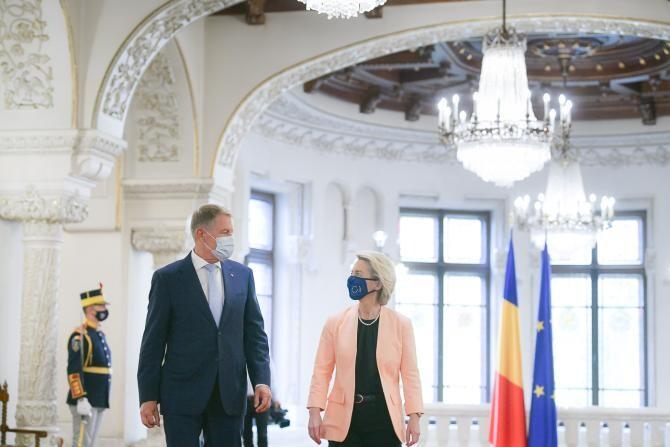 Ursula von der Leyen și Klaus Iohannis / Foto: presidency.ro