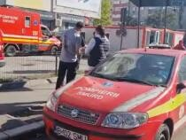 Coadă de ambulanțe la Spitalul de Urgențe Floreasca din Capitală / Foto: Captură video Realitatea Plus