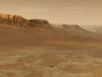 Roverul Perseverance în craterul Jezero (concept artistic)  Foto: Wikipedia