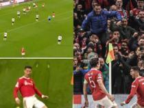 Fenomenul Cristiano Ronaldo (36 de ani), bucurie extremă după ce a salvat-o din nou pe Manchester United / Imagini de SENZAȚIE Captură video YouTube Man United HQ