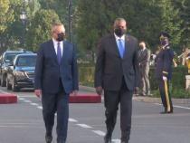 Secretarul american al Apărării, Lloyd J. Austin III, primit de ministrul Nicolae Ciucă / VIDEO