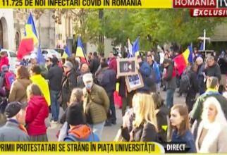 Protest la Piața Universității împotriva certificatului verde