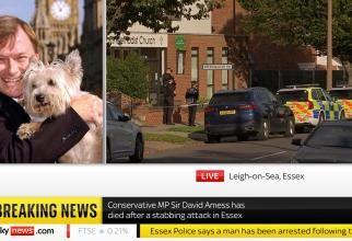 Un deputat din partidul lui Boris Johnson, înjunghiat la biserică. UPDATE / A murit Captură Video Sky News