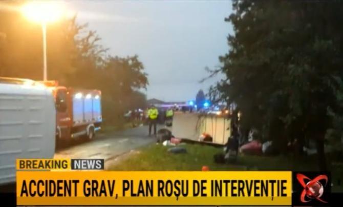 Accident GRAV în județul Arad. Plan Roșu de intervenție / Foto: Captură video Realitatea Plus