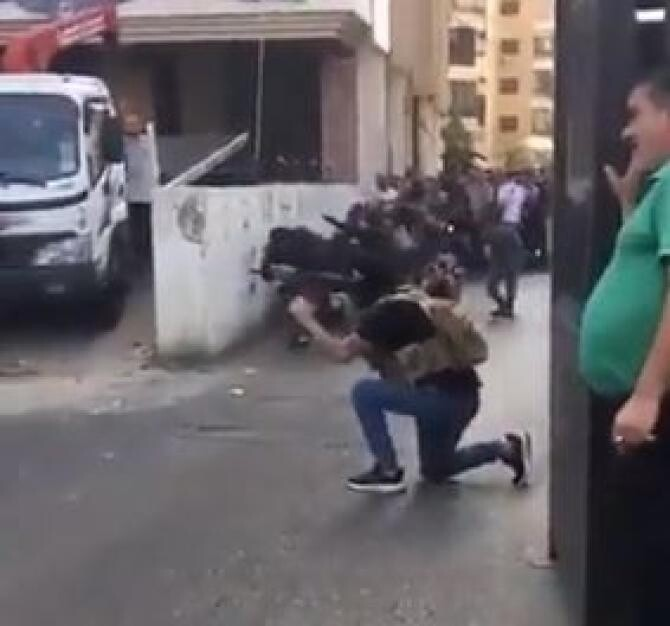 Captură video - Twitter - Middle East Live