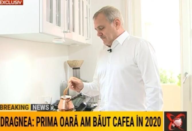 Secretul cafelei preparate de Liviu Dragnea. A început să bea în penitenciar / Foto: Captură video Realitatea Plus