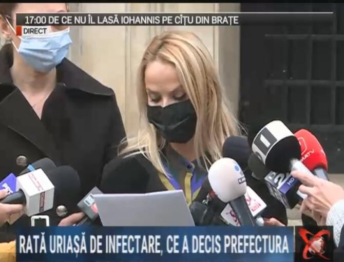 Prefectul Capitalei anunță noi măsuri, după ce rata de infecatre în București a ajuns la 12,65 / Foto: Captură video Realitatea Plus