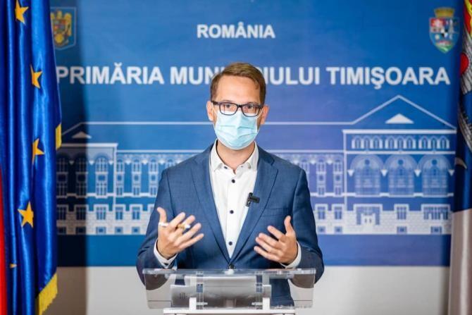 Primarul Fritz, nemulţumit că Timişoara nu a primit niciun leu din Fondul de rezervă al Guvernului Cîțu